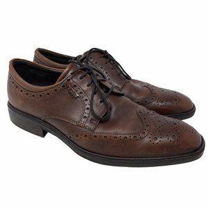 Ecco Illinois Wing Tip Tie Brogue Oxford Cognac 44